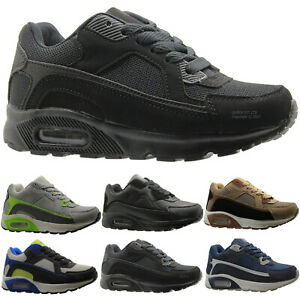 Image is loading BOYS-BLACK-GLENSDALE-SCHOOL-KIDS-SKATE-BOOTS-TRAINERS- f2e0a9ea6