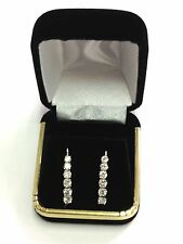 High Quality Black Velvet Earrings Gift Box Case Jewelry Display Luxury Simple