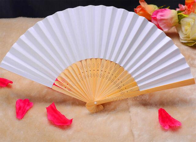 12pcs Folding Elegant Paper Hand Fan Wedding&Party Decoration  Favors 21cm LSO5