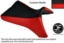 BLACK & RED VINYL CUSTOM FITS BUELL 1125 R CR XB 12 R XB 9 R FRONT SEAT COVER