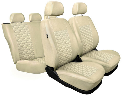 CAR SEAT COVERS full set fit Peugeot 307 beige leatherette Eco leather