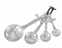 Ganz 4-piece Measuring Spoons Set, Cross, New, Free Shipping
