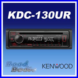 Kenwood KDC-130UR CD MP3 USB RDS Car Radio Receiver - Red Key