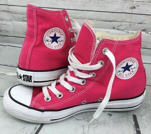 Converse All Star High Top Sneakers Unisex Men 4 Women 6 Hot Pink ... db1e0b4d2