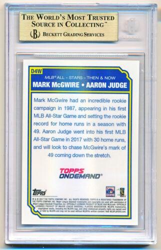 2017 Topps On Demand Mark McGwire Aaron Judge All-Star Walnut Rc //25 BGS 9.5 QTY