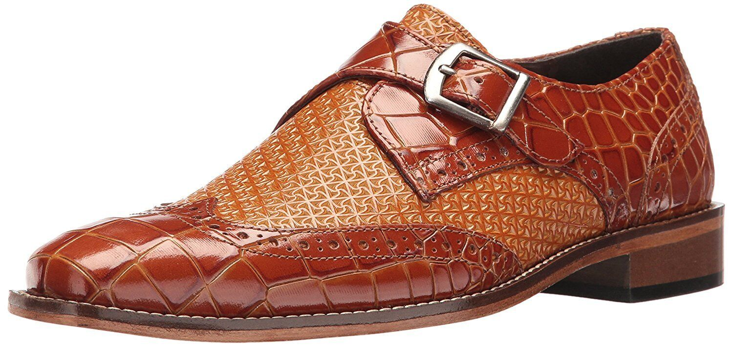 Stacy Adams Mens Giannino-Monk Strap Wingtip Slip-on Loafer  W US