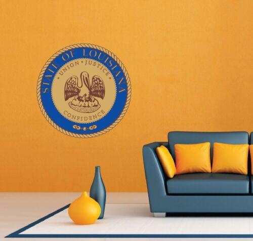 "Louisiana State Seal USA Wall Room Garage Decor Sticker Decal 22/""X22/"""