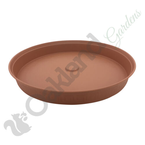 30 x 15cm Plant Pot Saucer Drip Tray Terracotta Plastic Deep High Sided Strong