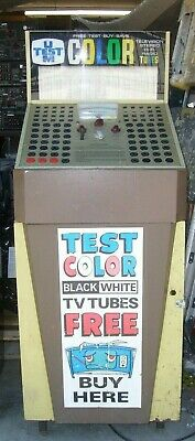 Vintage U-TEST-M Vacuum Tube Tester Store model Radio TV Pittsburgh Pa. 6V6  5U4   eBay