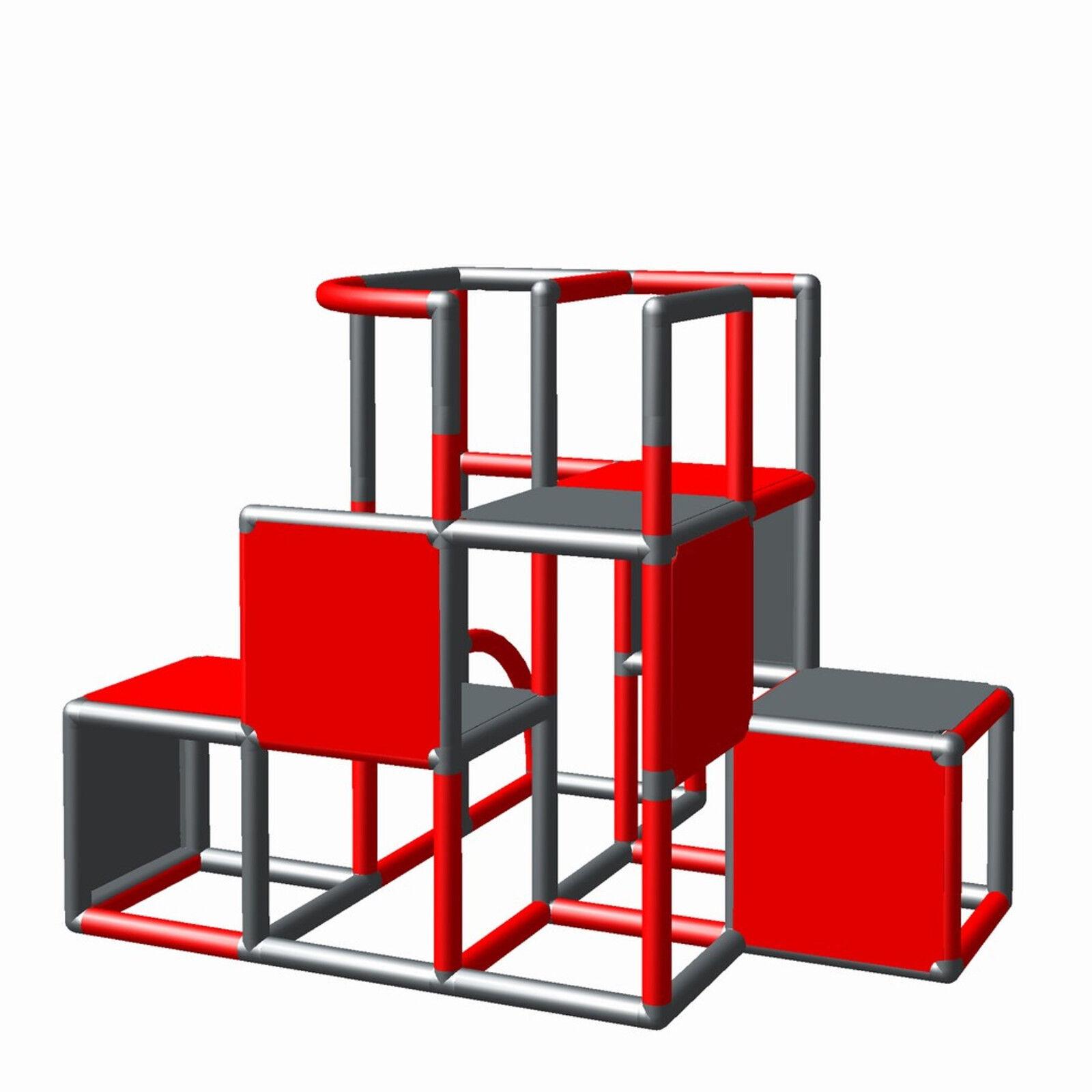 Moveandstic Tour Spielturm professionnel modulaire terrain de jeux jeu échafaudage 6488