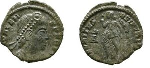 Ancient Rome Valens AD 364-378  AE Nummus, Victory