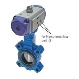 Details about Pneumatic Flanging Butterfly Valve Dn 32 Pn16: Ggg40-va-epdm