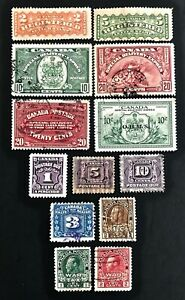 Canada-Registered-Special-Delivery-Postage-Due-War-Tax-Stamps-Used