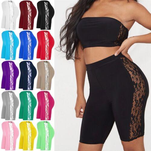 NUOVA linea donna che balla Ciclismo Pantaloncini Donna Hot Pants pizzo laterale Attivo Palestra Collant