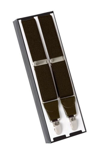 Women Elastic Clip Adjustable Leather Trim X-Back New Fashion Suspender Men