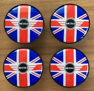 4-MINI-Embleme-Nabenkappen-Nabendeckel-London-Edition-R55-R56-R75-R58-ORIGINAL