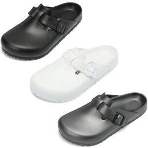 f4135b5b6b6a Birkenstock Boston EVA Clog Sandals Strap Slides Mens Womens Unisex ...