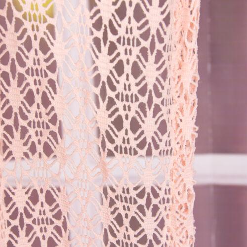 Fertiggardine Ösengardine Blumen Gitter rosa 140x260cm