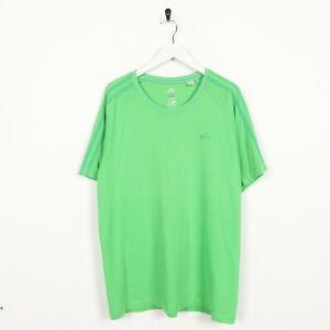 Vintage-ADIDAS-Small-Logo-T-Shirt-Tee-Green-Medium-M