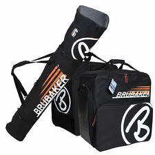 Black Orange Ski Bag Combo CHAMPION for Ski up to 190 cm Poles, Boots + Helmet