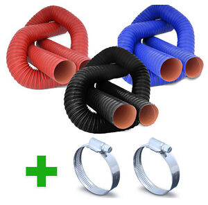 Flexible-Air-Ducting-Hose-Clips-Silicone-Coated-Hot-Cold-Duct-Induction-ASH