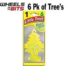 6x Sorbetto Limone Profumo Magic Tree Piccolo Alberi Auto Casa Deodorante