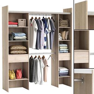 kleiderschrank akazie 3005 offen begehbar regal schrank garderobe schlafzimmer ebay. Black Bedroom Furniture Sets. Home Design Ideas