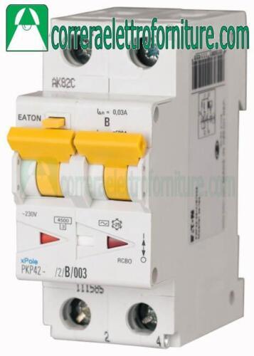 Interruttore magnetotermico differenziale AC 2P 25A 30ma 4,5KA EATON 111611