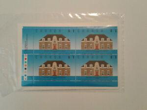 Canada #1181, 1989 $1, Runnymede Library, SEALED, 4-Corner Set MNH