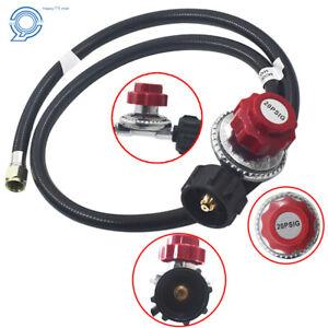 Adjustable-Propane-Gas-Regulator-BBQ-Grill-Burner-Work-Fryer-4ft-Hose-20psi-CGA