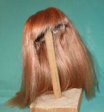 """doll wig/ human hair 10.5 to 11"""" strawberry blond / long hair"""