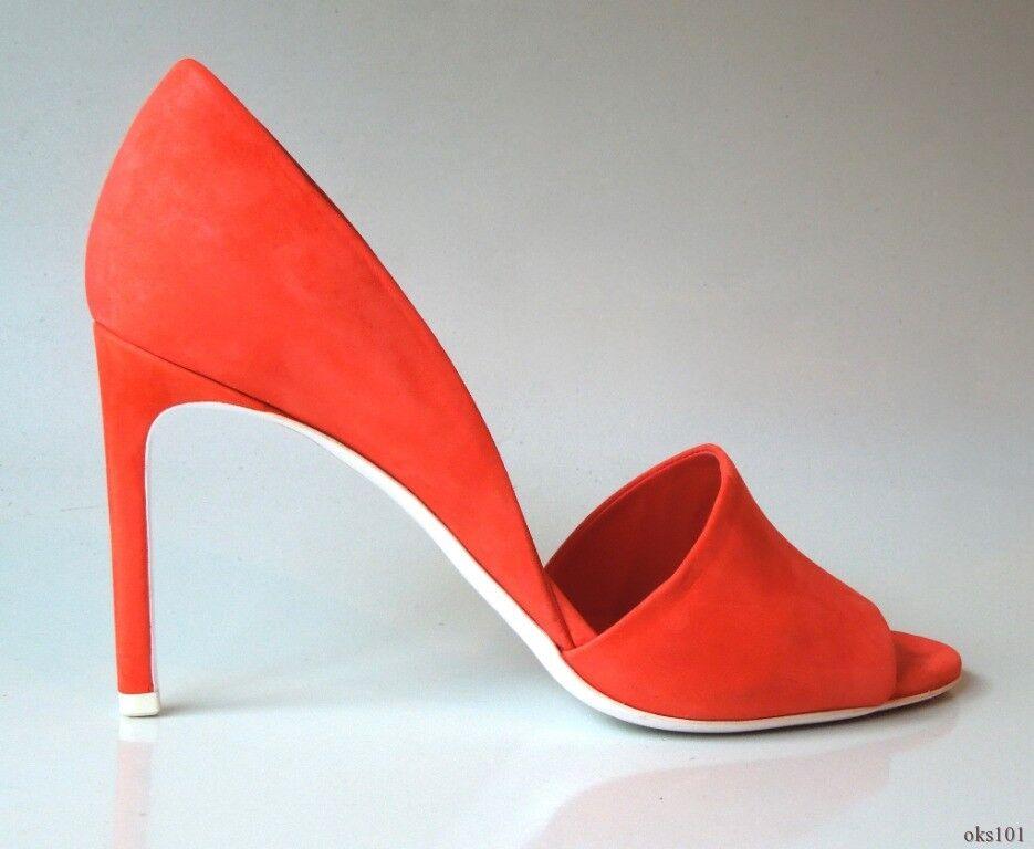 i nuovi stili più caldi New  425 VINCE 'Saffron' 'Saffron' 'Saffron' flame arancia open toe D'Orsay scarpe  39.5 US 8.5  migliori prezzi e stili più freschi