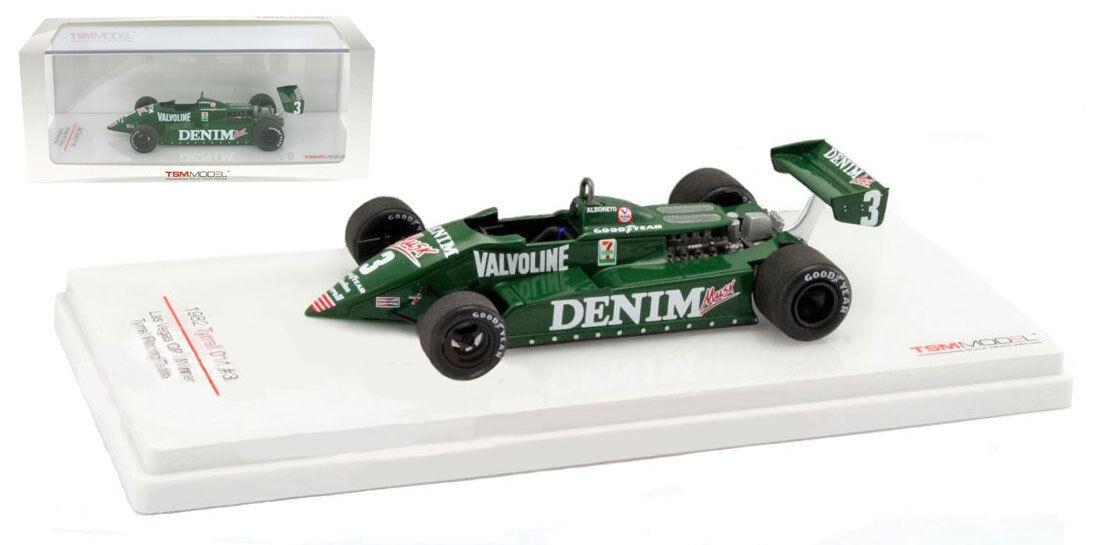 TRUESCALE TSM154360 TYRRELL 011 gagnant Las Vegas 1982-Michele Alboreto 1 43