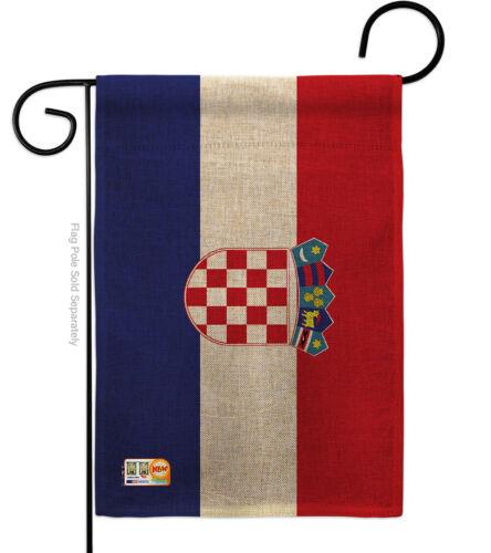 Impressions Decorative Garden Flag G142061-DB Croatia Burlap