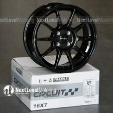 Circuit Cp23 16x7 4 100 35 Gloss Black Wheels Type R Style Fits Honda Civic Jdm