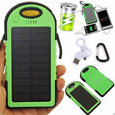 US 12000mAh Solar Dual USB Portable Battery Charger Power Bank For Phone LED GN