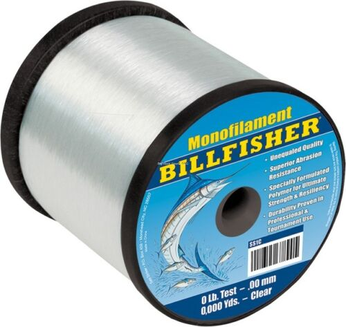 NEW Billfisher Bulk Mono 1Lb Spool 200Lb 245Yds Clear SS1C-200