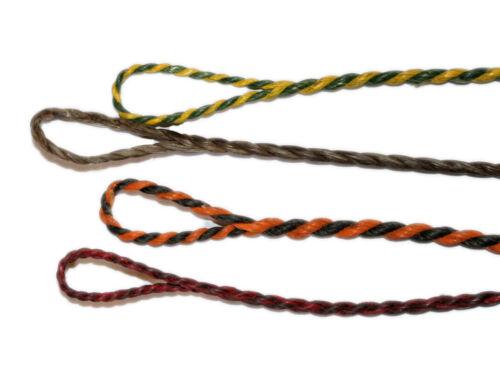 Dacron Flämisch Spleiss Sehne dunkle Farben zufällige Farbauswahl