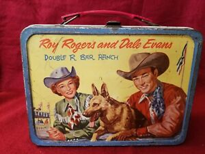 Vintage Roy Rogers & Dale Evans Double R Bar Ranch Metal Lunch Box
