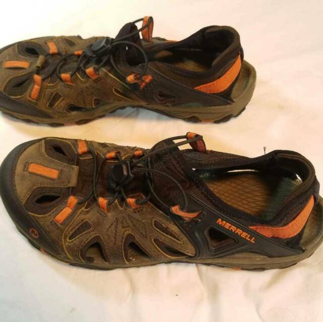 Merrell All Out Blaze Sieve Brown Black Men Slip On Outdoors Hiking Shoes J12645