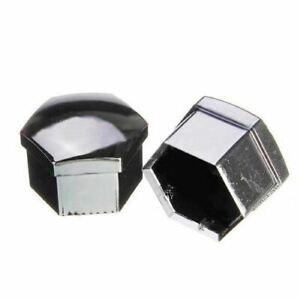 Set-of-20-pcs-19mm-Car-plastic-caps-bolts-covers-nuts-alloy-wheel-chrome-to-U1Y8