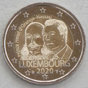 2-Euro-Luxemburg-2020-200-Geburtstag-Heinrich-von-Oranien-Nassau-unz