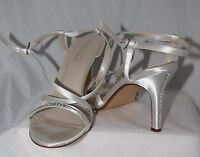 Womens Michaelangelo HEELS shoes Dyeable white satin rhinestones Rayna 8.5