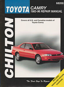1983 1996 toyota camry repair manual by chilton 9780801989551 ebay rh ebay com haynes toyota camry repair manual download haynes toyota camry '97-'01 repair manual download