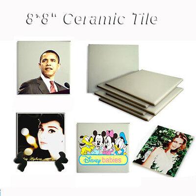 10pcs 8inx8in Sublimation Ceramic Tile For DIY Heat Press Transfer Images Printe