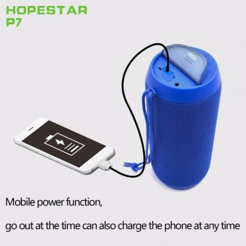 Hopestar P7 portable IPX6 waterproof bluetooth speaker support 1+1 Wireless Seri