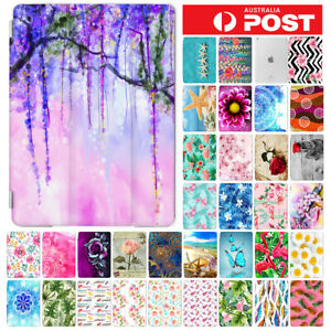 Flower-Front-amp-Back-Smart-Case-Cover-for-iPad-2-3-4-5-6-Mini-Air-Pro-9-7-10-5-F002