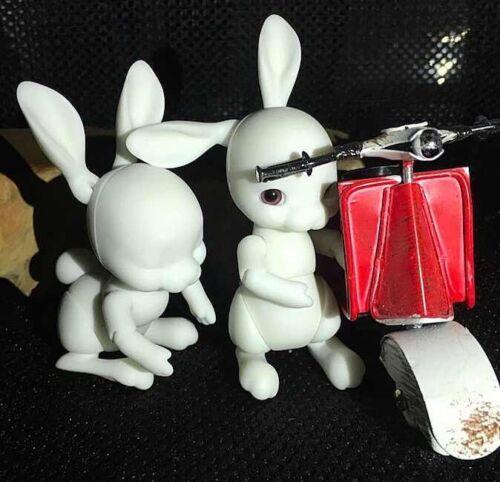 1//12 Mini BJD SD Dolls Tobi Rabbit No Make Up Bare Doll White Resin