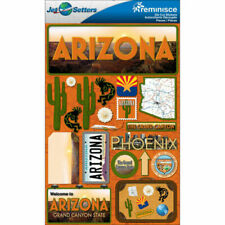 Reminisce  Jet Setters Dimensional Stickers-Iowa Plus 2 Headers And  Stickers