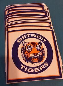 30 Vintage DETROIT TIGERS Window / Bumper Stickers NOS '80's Unused,Unpeeled